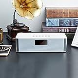 Vinteen Haushalt Mini Gewicht Bass Handy Drahtlose Wecker Tragbare Karte Kleine Sound Bluetooth Lautsprecher Doppel Lautsprecher Kontrabass Genügend Schock Lautsprecher (Color : White)