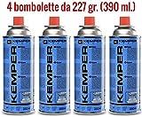X 4 Kemper CARTUCCIA GAS BUTANO GR.227 PER FORNELLO SMART 577