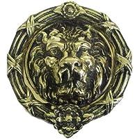 1 x, in ottone anticato, prodotta in Inghilterra-Batacchio a forma di Castello di leone.