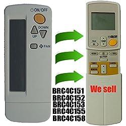 Repuesto para Daikin ventana pared portátil Aire Acondicionado Mando a distancia compatible para mando a distancia número de modelo BRC4C151brc4C152brc4C153brc4C155brc4C158