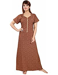 Soulemo Womens Nighty/Micro Poly-Viscose Fabric (Long Front Open) with No Shrinkage & No Colour Fading Problem at All. 569