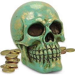 mtb more energy ''Shiny Vintage Skull'', turquesa (más colores disponibles)
