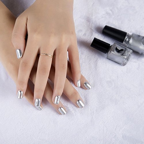 Generic Fashion Womens Metallic Magic Mirror Chrome Effect Silver Nail Art Nail Polish