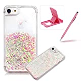 Coque iPhone SE Rigide, Herzzer Transparent Bling Paillettes Étoiles Case 3D...