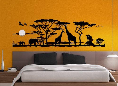 grandorar-w683-adesivo-da-parete-motivo-savana-africana-animali-per-soggiorno-camera-da-letto-violet