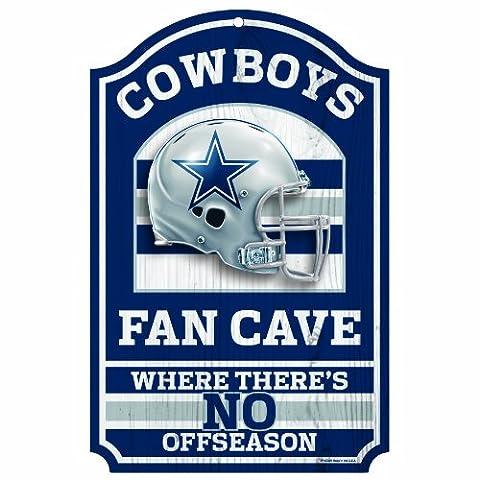 NFL Fan Cave Holz Schild, 27,9x 43,2cm, Herren Jungen, Dallas Cowboys
