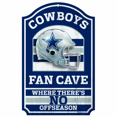 Wincraft NFL Fan Cave Holz Schild, 27,9x 43,2cm, Herren Jungen, Dallas Cowboys