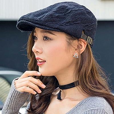 Jack Mall- Fashion Street Hut Weiblicher Herbst und Winter Berets Freizeit Wilde Cap koreanische Version Fashion Wool Cap Herbst Knitting Berets