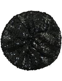 JTC Women's Shining Sequin Beret Hat Beanie Cap