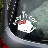Sedeta® Calcomanías reflectantes pegatina para el parachoques Bebé de la muchacha a bordo Bebé en la etiqueta engomada del coche de la ventana del coche Auto Truck Waterproof Vinyl Decals