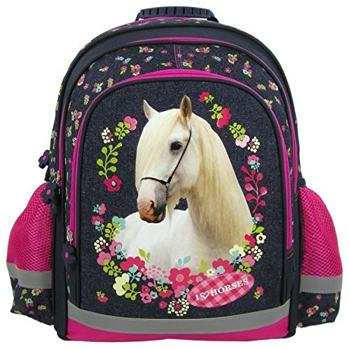 cheval-blanc-grand-sac-a-dos-cartable-ecole-loisirs-extrascolaires-horses-pony-poney