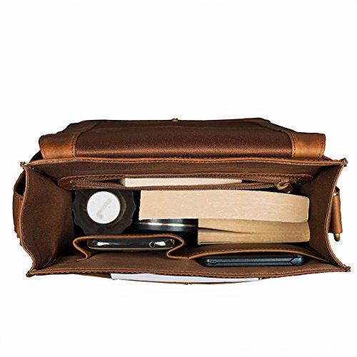 STILORD  Lars  Borsa uomo in pelle a tracolla Messenger A4 piccola  verticale Borsello vintage A4 grande per Tablet da 13 06545a61c34