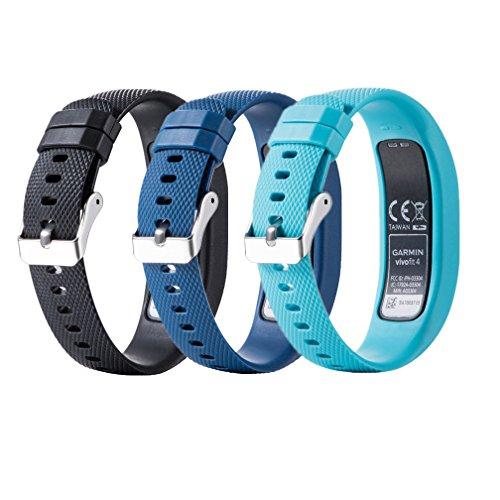 Meiruo Bracelet de Remplacement pour Garmin Vivofit 4, Strap Bracelet pour Garmin Vivofit 4 (S, Colour 2)