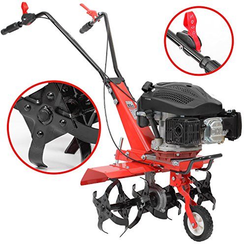 HECHT Benzin-Gartenfräse 746 Motor-Hacke Boden-Fräse Kultivator (36 oder 60cm Arbeitsbreite, 6 Kreisel mit je 4 Zinken)