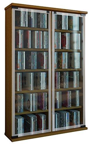 VCM Regal DVD CD Rack Medienregal Medienschrank Aufbewahrung Holzregal Standregal Schrank Möbel...