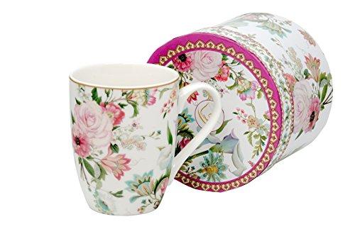 Kaffee-Becher Kaffeetasse groß Porzellan | April | Teetasse Geschenk-Tasse Trinkbecher Mug 330 ml von DUO in Geschenkbox