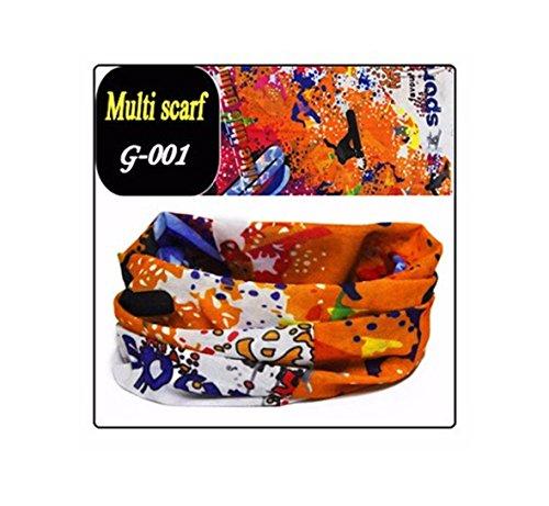 bazaraz-1910-snowboard-arancione-scaldacollo-bandana-fascia-capelli-fantasy-in-cotone-elasticizzato-