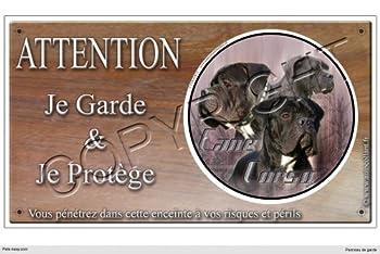 Panneau chien ou plaque Cane-Corso-Male 30 cm