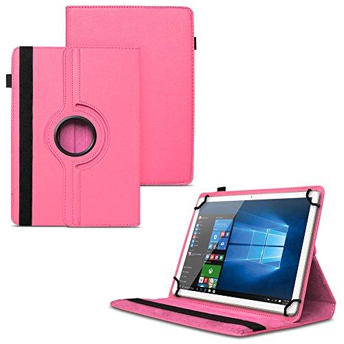 UC-Express NAUCI Odys Cosmo Win X9 Odys Winpad X9 Tablet Universal Schutzhülle aus Kunstleder Hülle Tasche Standfunktion 360° Drehbar Cover Case, Farben:Pink