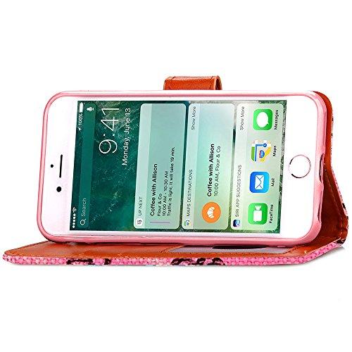 iPhone 7 Custodia, Cozy Hut ® Folio Custodia per Apple iPhone 7 4.7 pollici TPU Ultra Sottile Chiusura Magnetica Copertura Shell in PU Pelle Borsa a Libretto in Ecopelle Portafoglio Tasc