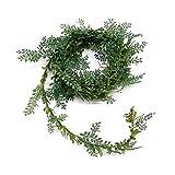 Teeblatt- Girlande m. Draht, 3 Meter Kordel, grün, TOP !!!