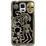 Spritech (TM) 3d personalidad Diablo Calavera Decor Bronze-colored Caver duro caso, Style-1, Samsung Galaxy S5