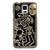 Spritech (TM 3D Personalidad Diablo Calavera Decor Bronze-Colored Caver Duro Caso, Style-1, Samsung Galaxy S5