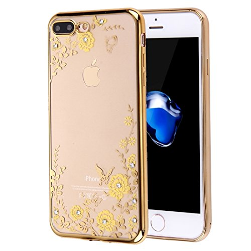 YAN Für iPhone 7 Plus Blumen Muster Galvanisieren Soft TPU Schutzhülle Fall ( SKU : Ip7p5910b ) Ip7p5910a