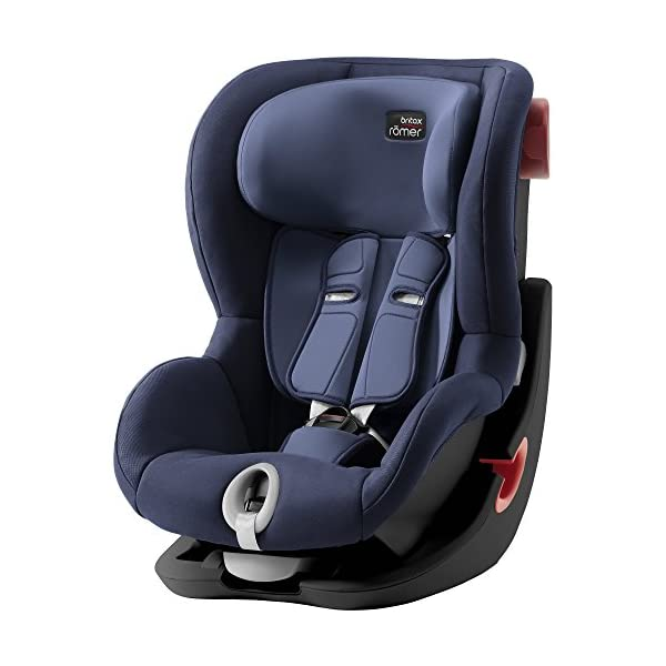 Britax Römer King II Black Series Group 1 (9-18kg) Car Seat - Moonlight Blue  Easy installation - with tilting seat and patented seat belt tensioning system Optimum protection - performance chest pads, deep, padded side wings 1