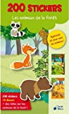 Animaux de la Foret 200 Stickers