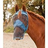 Gorro anti-mouche Premium sin orejas azul poni