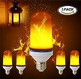 Flackernde Flammen Glühbirne LED Jahrgang Mauer Laterne Stimmungslampe mit Feuer-Effekt Emulation Für Garten Dekoration (5Pack)