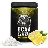 nu3 – BCAA en poudre | 400g | goût citron | Rapport optimal d'acides aminés 2: 1: 1 | Complément pour un boost...