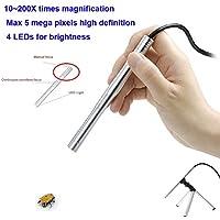 KKmoon 200X USB Mini Microscopio Endoscopio Lente