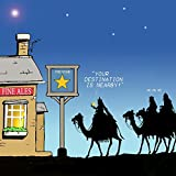 Twizler, biglietto di auguri di Buon Natale con Re Magi, cammelli, stella e pub. Prodotto adatto per lui e per lei (prodotto in lingua inglese/lingua italiana non garantita)
