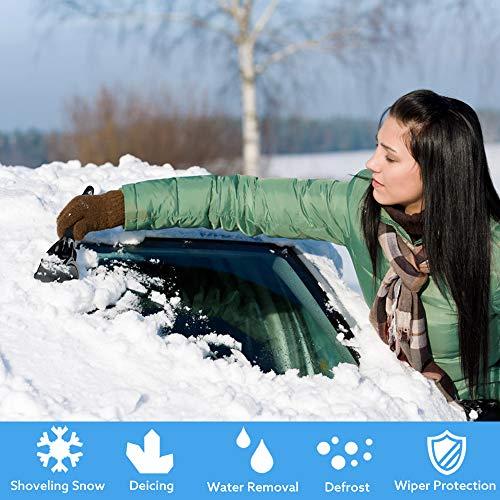 TUPARKA 3 Pz Raschietto per Ghiaccio Raschietto per Neve Raschietto per Parabrezza per Auto Rosso//Blu//Nero