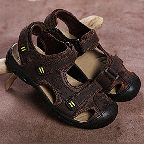 Moollyfox Sandales En PU-Cuir/Grandes Chaussures De Sport De Taille Marron Foncé
