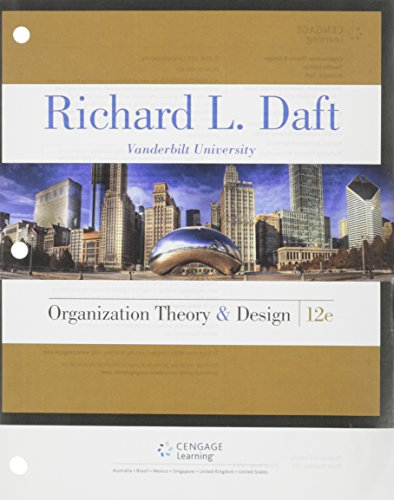 Pdf Download Organization Theory And Design By Richard L Daft Full Books E4redgveradg