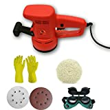 ToolsCentre 130-15 Tools Centre 130-15 Multi Functional Rotary Sander Polishing Kit Combo, Red