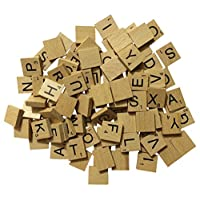 NMIT Wooden Scrabble Tiles Full Set Of 100, Craft, Board Games, Jewellery Making Kit VARNISHED TILES