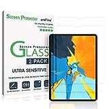 amFilm Protector Pantalla iPad Pro 11 (2 Piezas), Bordes Curvos (Anti-Burbujas) Cristal Vidrio Templado Protector de Pantalla para Apple iPad Pro 11 Pulgadas (2018)