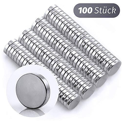 Hochwertige 100 Mini-Magnete stark 5 x 1 mm