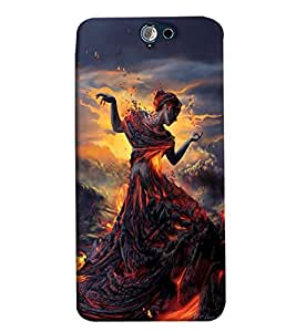 Blue Throat A Lady Printed Designer Back Cover/Case For HTC One A9