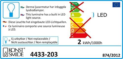 Konstsmide 4433-203 - Guirnalda led con 5 estrellas (30 diodos de blanco frío, transformador interno de 24 V, cable transparente)
