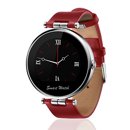 fantime-smartwatch-ips-round-screen-with-red-replacement-leather-band-compatible-with-android-iphone