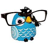 Unbekannt Brillenhalter -  Verschiedene Eulen  - stabil aus Kunstharz - universal Größe - für Kinder & Erwachsene / Brillenhalterung - lustiger Brillenständer - für S..