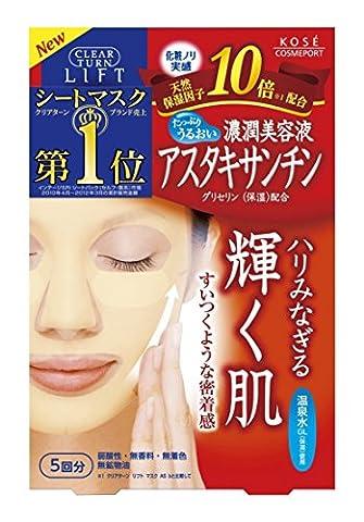 Kose Clear Turn Essence Facial White Mask 5pcs - Astaxanthin