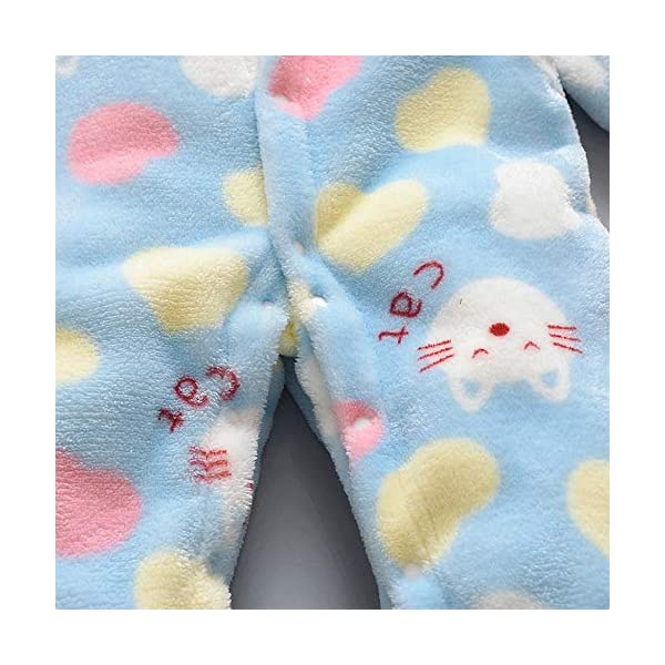 Pijama Bebe 0-18 Meses Mameluco cálido recién Nacido bebé Dibujos Animados Fleece Caliente Mono Suave Pijama de una… 5