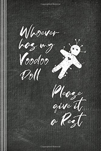 Voodoo Doll: Funny Journal - Blank Sketch Paper Composition Notebook For Drawing, Sketching, Doodling - Humorous Curse Spell Witchcraft Saying Book Diary