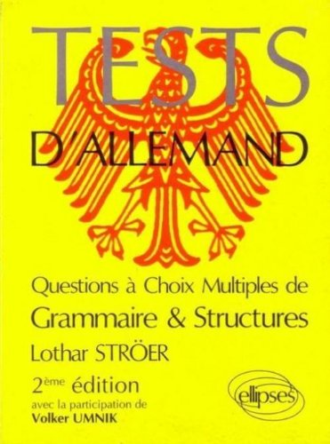 Tests d'allemand: Questions à choix multiples de grammaire & structures
